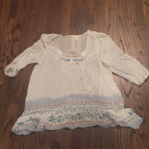 Sheer, beaded boho top